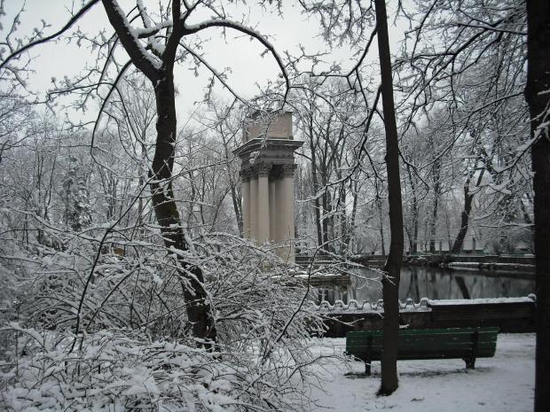 Tarnów,park Strzelecki-20.03.09. #zima