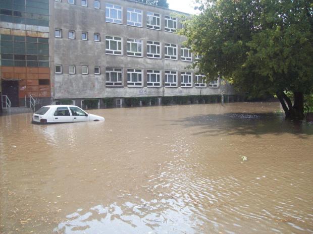 Warszawa- ulewa na Mokotowie #deszcz #ulewa #warszawa