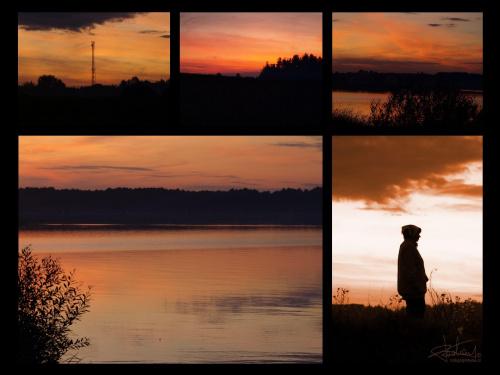 Zalew Siemianówka, 08.2009 [Olympus E-410, Zuiko Digital 14-42] #wakacje #ZachódSłońca #pocztówka #krajobraz #wieczór #jezioro #zalew