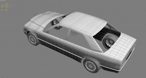 Mercedes W201 190 3D model
