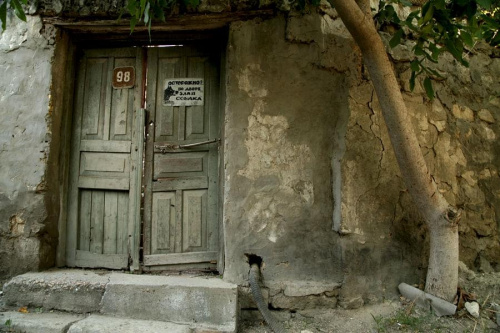 Drzwi, mur, drzewo #ukraina