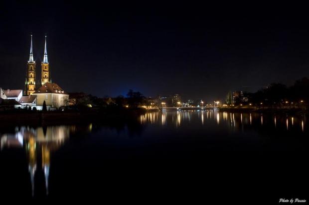 Wrocław nocą... #wrocław #OstówTumski #odra #noc #światła #passiv #ariking #nikon