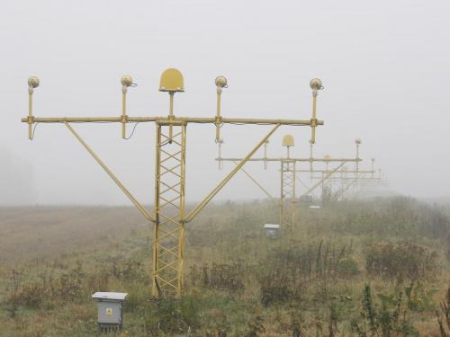 Mgła na Balicach 6 listopada 2008 #epkk #Balice #KrakowAirport #mgła