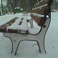 Ławka ze śniegiem? (nie wiem jak to opisać xd) #ławka #park #zima