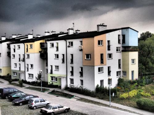 Burza #blok #burza #deszcz #osiedle