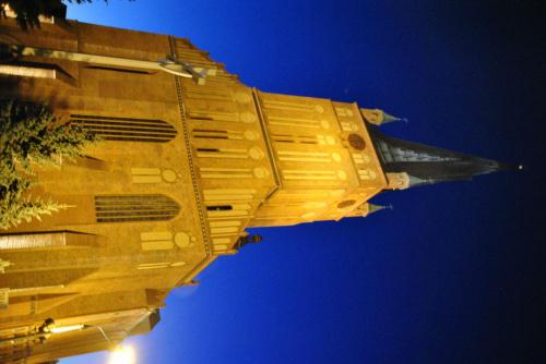 Katedra św. Jakuba Apostoła #NocneZdjęcia #Odra #Szczecin #SzczecinNocą #WałyChrobrego #WschódSłońca