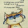 Haft krzyżykowy z motywem kota. #HaftKrzyżykowy #kot #rękodzieło