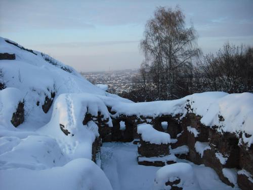 ruiny zamku na g.św.Marcina #zima